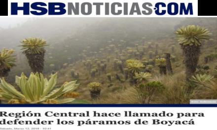 Región Central hace llamado para defender los páramos de Boyacá