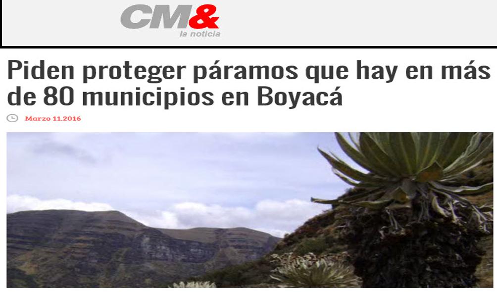 Piden proteger páramos que hay en más de 80 municipios en Boyacá