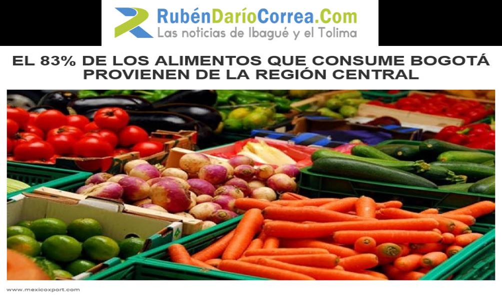 El 83% de los alimentos que consume Bogotá provienen de la Región Central
