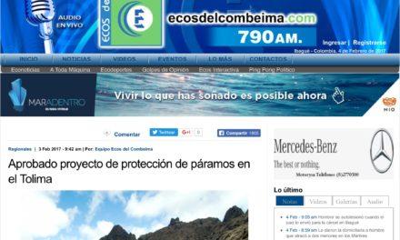 Aprobado proyecto de protección de páramos en el Tolima