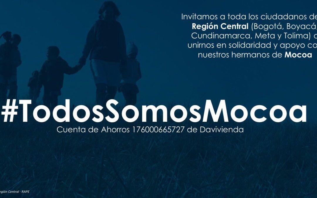 La Región Central alerta ante posibles desastres #TodosConMocoa