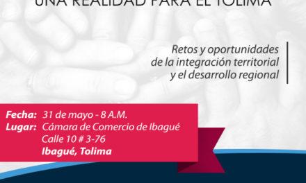 Integración regional una realidad para Tolima.