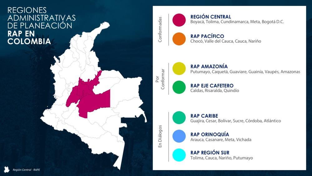 La Región Central apoya la creación de nuevas Raps en el país.