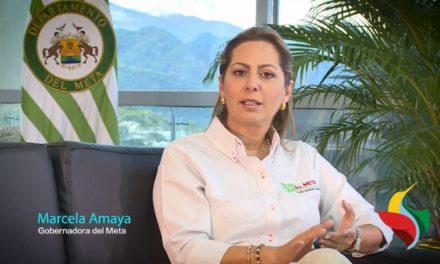 """""""Con nuestras acciones construimos oportunidades de paz"""", Marcela Amaya, Gobernadora del Meta."""