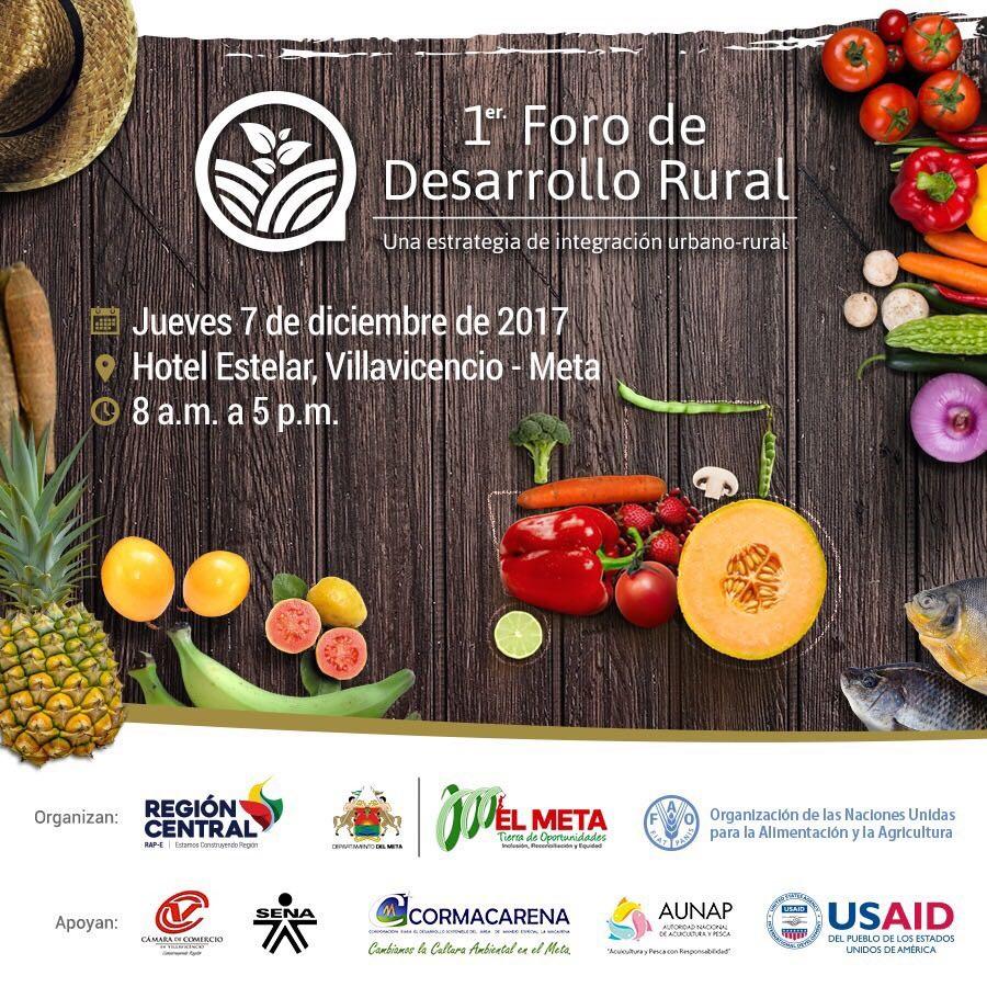 Primer foro de desarrollo rural en la Región Central