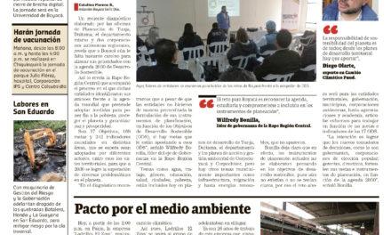 Sostenibilidad, reto para Boyacá.