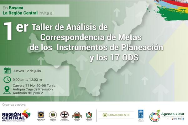 En Tunja realizarán taller para la territorialización de los Objetivos de Desarrollo Sostenible