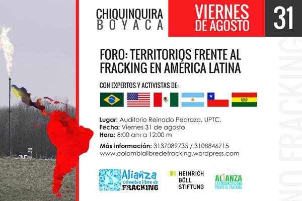 Jornada 'Territorios frente al fracking en América Latina' tendrá capítulo en Boyacá