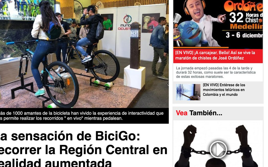 Diariodelcauca.com.co – 01/12/2018 – La sensación de BiciGo: recorrer la Región Central en realidad aumentada
