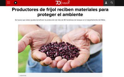 10/12/2018 – Productores de frijol reciben materiales para proteger el ambiente