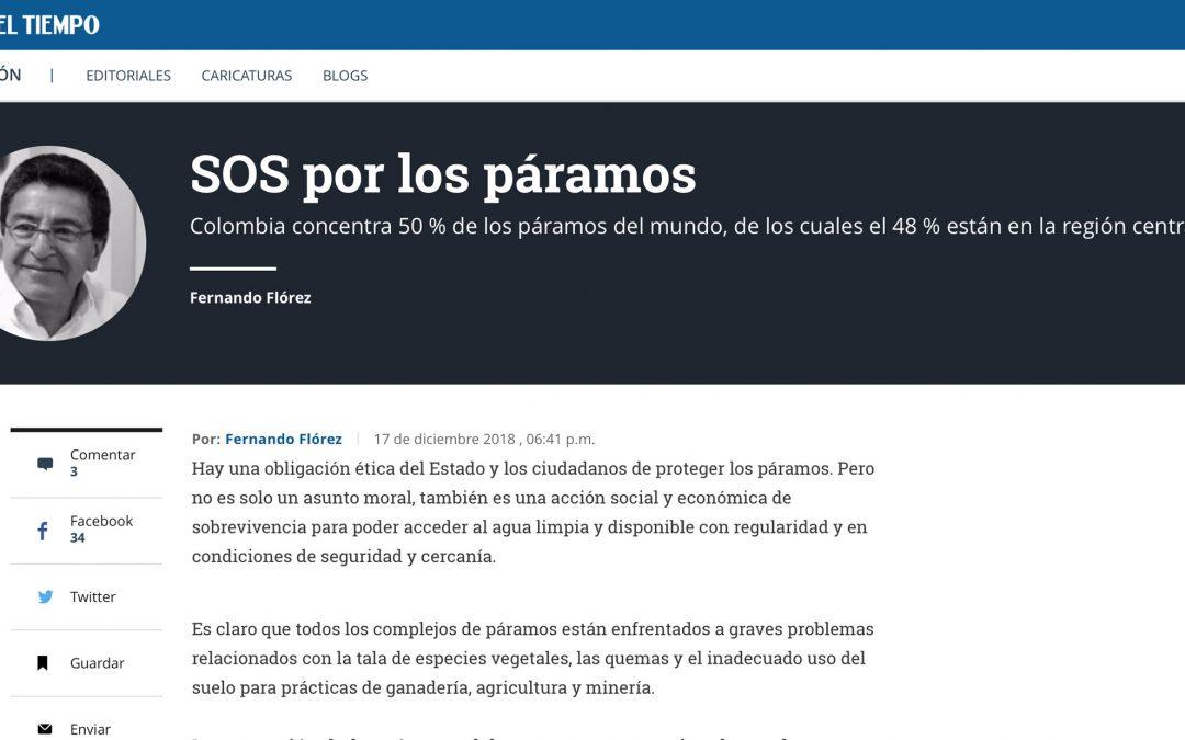 eltiempo.com – SOS por los páramos – Columna por Fernando Flórez