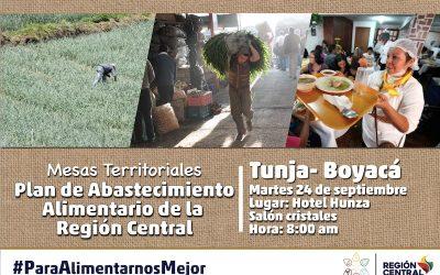 Convocatoria para productores, gremios y transportadores de alimentos en Boyacá