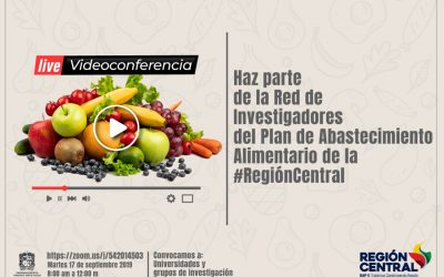 Convocatoria para conformar la Red de Investigadores alrededor del abastecimiento de alimentos en el centro del país.