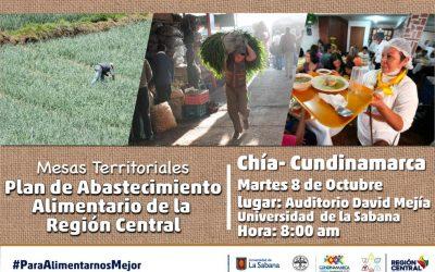 Convocatoria a productores, gremios y transportadores de Alimentos de Cundinamarca