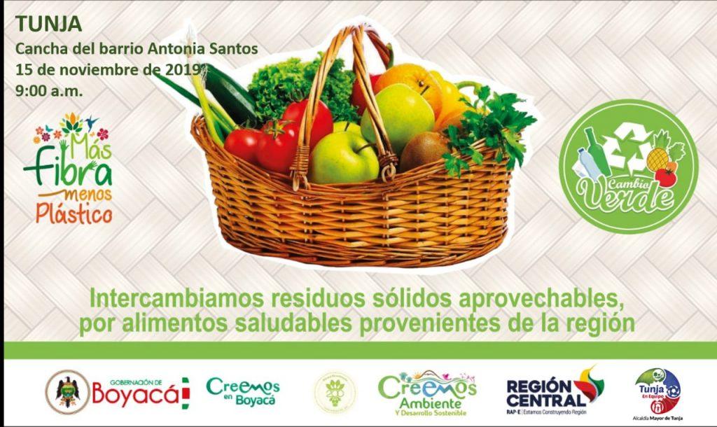 boyaca.gov.co – Jornada de intercambio de materiales reciclables por alimentos saludables en Tunja