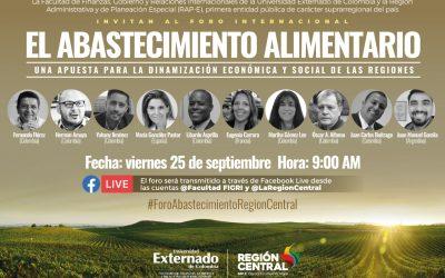 FORO INTERNACIONAL:  EXPERIENCIAS DEL ABASTECIMIENTO ALIMENTARIO EN LA REGIÓN CENTRAL DE COLOMBIA
