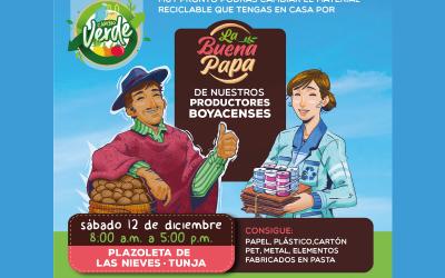 BOYACÁ REALIZARÁ EL 'CAMBIO VERDE': LA BUENA PAPA POR MATERIALES RECICLABLES.