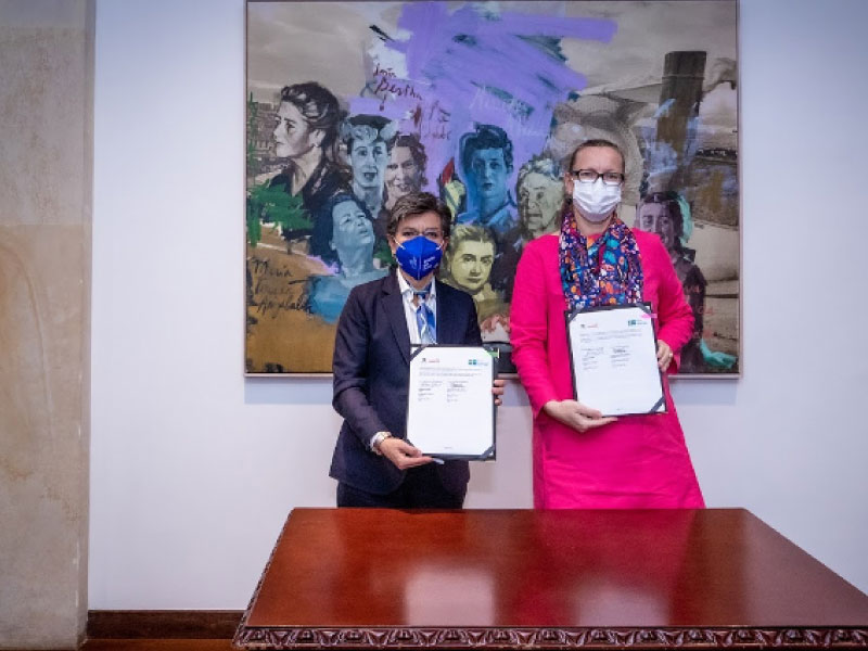 BOGOTÁ Y LA EMBAJADA DE SUECIA EN COLOMBIA FIRMARON CARTA DE INTENCIÓN