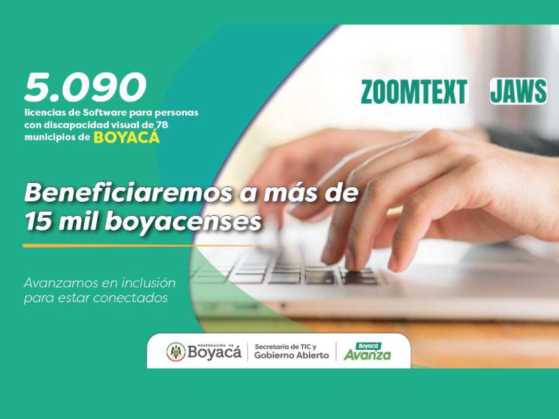 SE ENTREGARÁN 5.090 LICENCIAS DE SOFTWARE PARA PERSONAS CON DISCAPACIDAD VISUAL EN EL DEPARTAMENTO