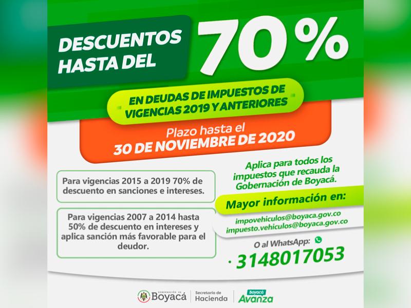 APROVECHE EL DESCUENTO DE HASTA 90% EN SANCIONES DE IMPUESTOS