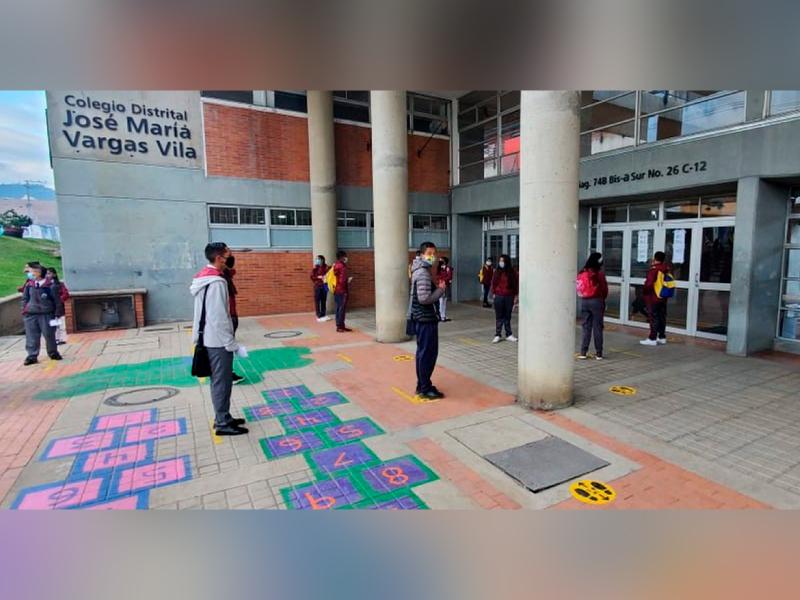 95% DE LOS COLEGIOS DISTRITALES CUMPLEN CON LOS PROTOCOLOS DE BIOSEGURIDAD
