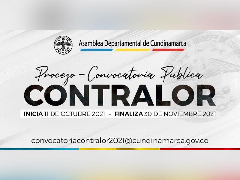 CONVOCATORIA PARA ELEGIR AL CONTRALOR DEPARTAMENTAL